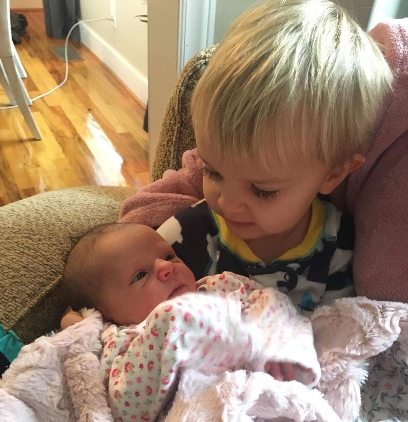 Brother meets his sister :)